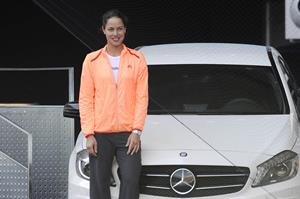 Ana Ivanovic promoting Mercedes at the Madrid open 08-05-2012