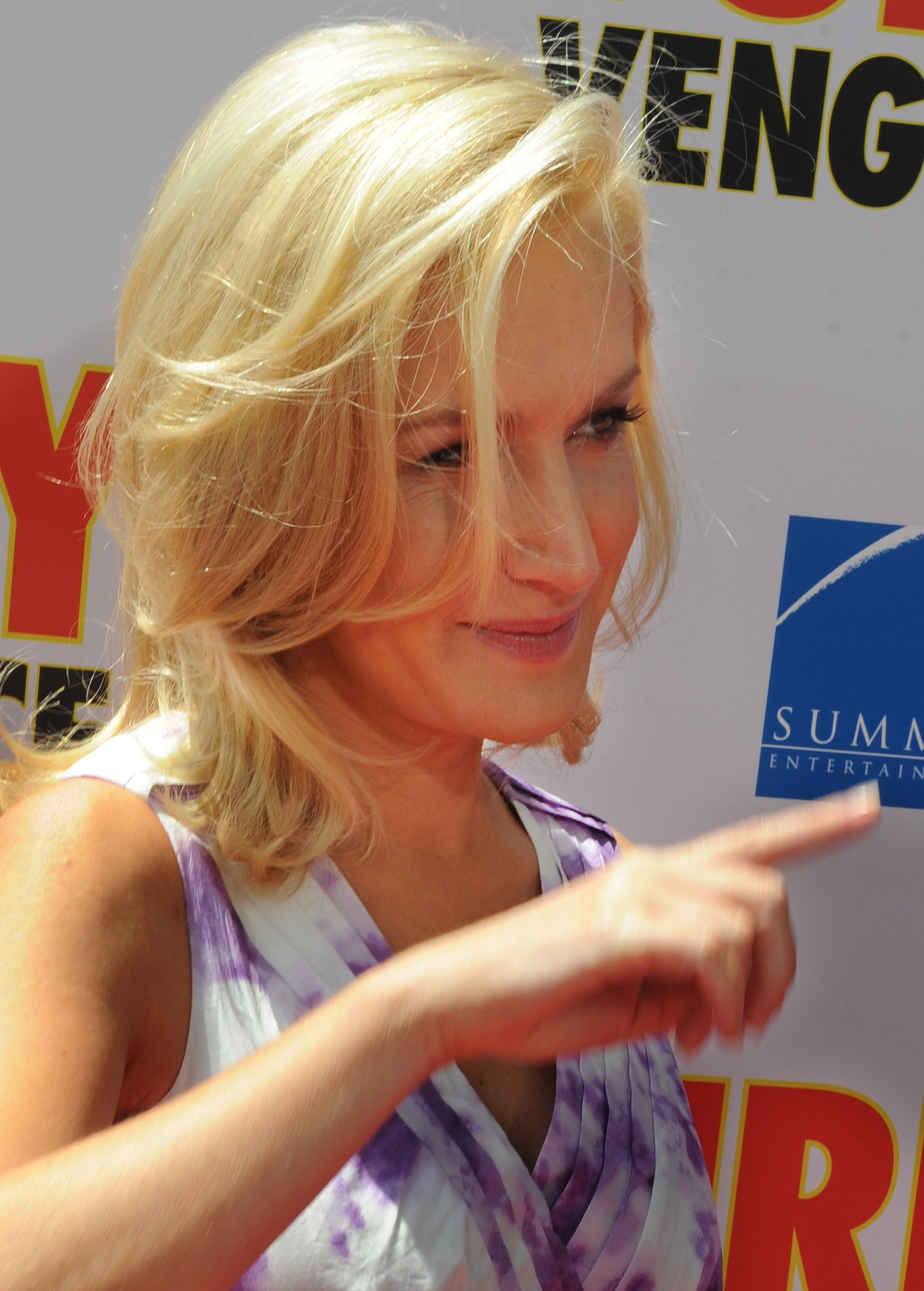 Angela Kinsey attending the Furry Vengeance premiere on April 18, 2010