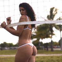 Stephanie Santana in a bikini - ass