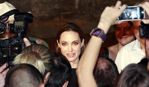 Angelina Jolie Adriatic Island of Brijuni Croatia on August 19, 2011