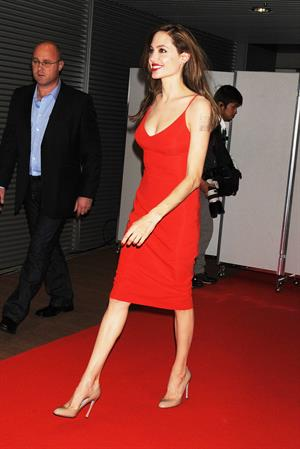 Angelina Jolie at the Moneyball premiere in Tokyo 9-11-2011