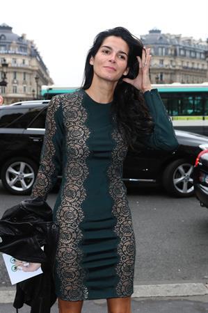 Angie Harmon Stella McCartney fashion show at Paris Fashion Week on September 30, 2013