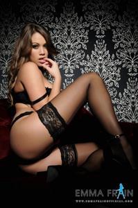 Emma Frain in lingerie