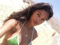 Julia Evans in a bikini