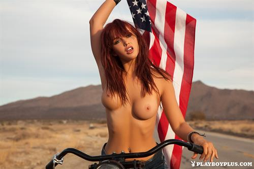 Playboy Cybergirl Veronica Ricci Nude on a motorcycle Playboy Plus!