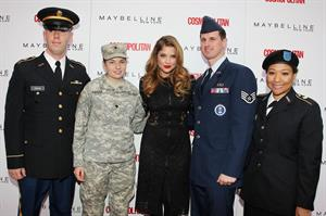 Ashley Benson – Kisses for the Troops Campaign 11/11/13