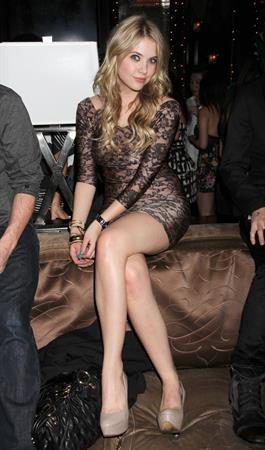 Ashley Benson celebrates her 21st birthday at Blush Nightclub in Las Vegas on Dec 21, 2010