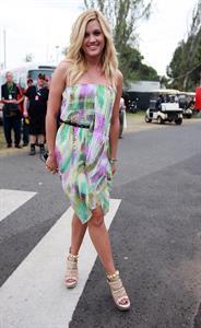 Ashley Roberts at Australian F1 Grand Prix on March 28, 2010