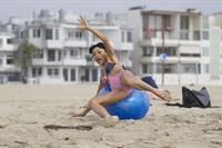 Bai Ling American-flag Bikini On Beach Los Angeles (10/04/12)