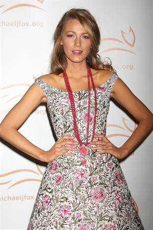 Blake Lively A Funny Thing Happened On The Way To Cure Parkinson's, New York, Nov. 9, 2013