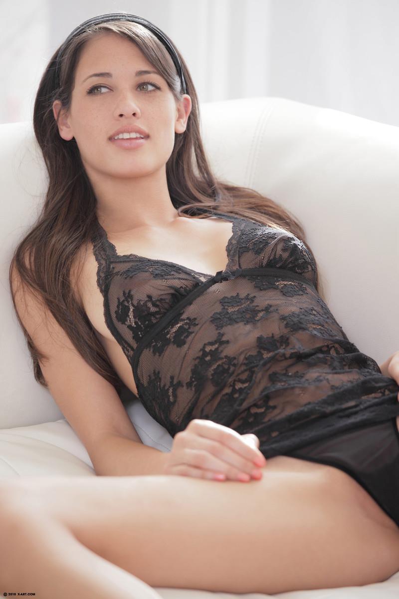 Tiffany Thompson in lingerie