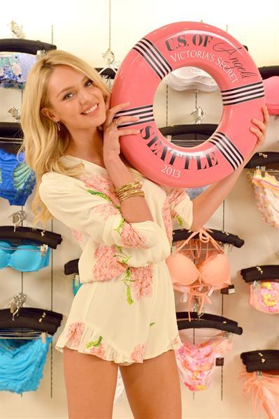 Candice Swanepoel Victoria's Secret U.S. Of Angels Swim Summer Tour Stops In Bellevue, Washington on July 10, 2013
