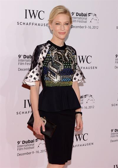 Cate Blanchett Dubai International Film Festival and IWC Filmmaker Award December 10, 2012