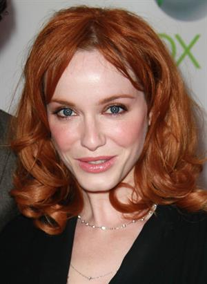 Christina Hendricks premiere of Xbox 360's Project Natal on June 13, 2010