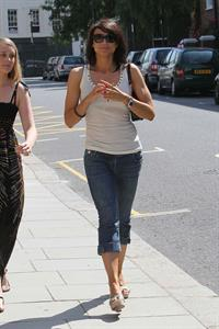 Christine Bleakley takes a stroll near her home on June 25, 2010