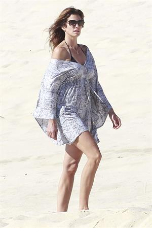 Cindy Crawford On the beach in Cabo, Mexico on January 2, 2013