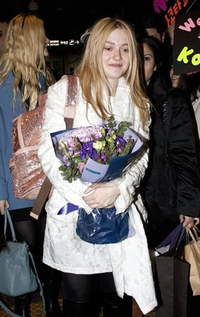 Dakota Fanning Incheon international airport in South Korea 1/5/13
