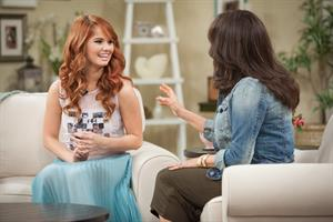 Debby Ryan appears at the Marie Osmond Show in Los Angeles on April 15, 2013