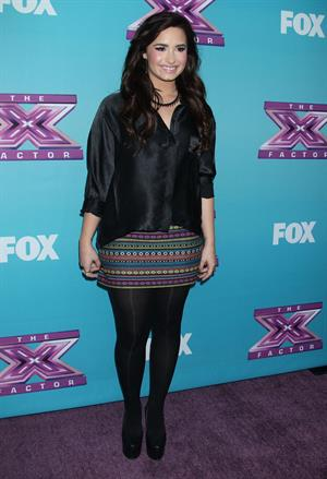 Demi Lovato The X Factor season finale news conference in LA 12/17/12