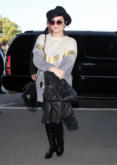 Demi Lovato at LA airport 12/7/12