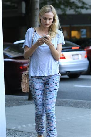 Diane Kruger - Taking in the new movie 'The Campaign' in downtown Vancouver on August 14, 2012