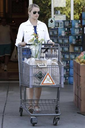 Dianna Agron pictured out grocery shopping at Bristol Farms in Beverly Hills July 8th, 2012