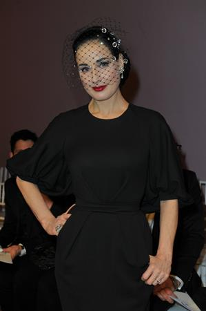 Dita Von Teese Aleis Mabille Fashion Show at Paris Fashion Week 1/21/13