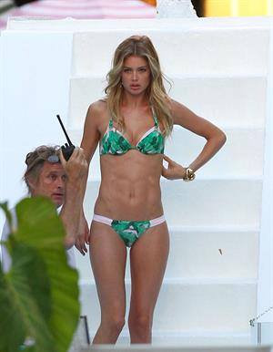 Doutzen Kroes in a bikini for a Victoria's Secret photoshoot in Miami 9/12/12