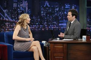 Elizabeth Mitchell on  Late Night With Jimmy Fallon  in New York, Mar. 22, 2013