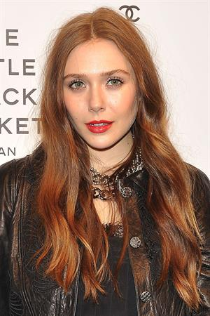 Elizabeth Olsen Chanel The Little Black Jacket - Karl Lagerfeld Photo Ehibition Dinner Party Milan, April 4, 2013