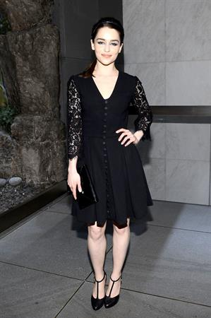 Emilia Clarke The Opening Of The 5th Avenue Flagship Boutique, May 4, 2013
