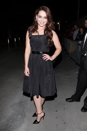 Emilia Clarke leaving Jimmy Kimmel Live in Hollywood 12/10/12