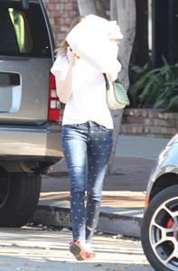 Emma Roberts - Spotted with her hearts in her boots in Santa Monica (14.02.2013)