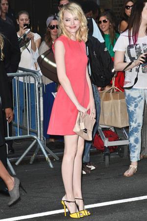 Emma Stone - Calvin Klein fashion show in New York - September 13, 2012