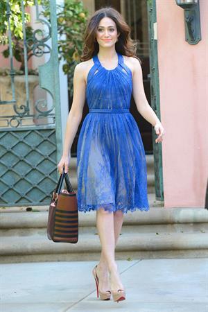 Emmy Rossum in LA 1/22/13