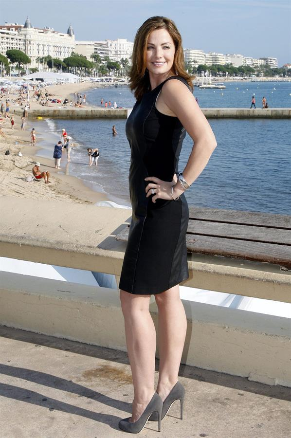 Erica Durance Saving Hope photocall at Palais des Festivals in Cannes 10/8/12