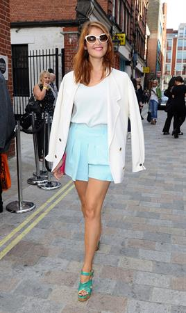 Gemma Arterton arriving at Somerset House for London Fashion Week - September 15, 2012