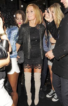 Geri Halliwell at Mahiki Nightclub in London July 12, 2012