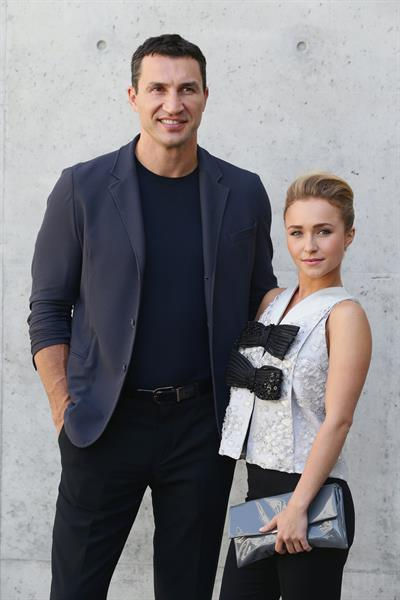 Hayden Panettiere Giorgio Armani show during Milan Menswear Fashion Week Spring Summer 2014 in Milan on June 25, 2013