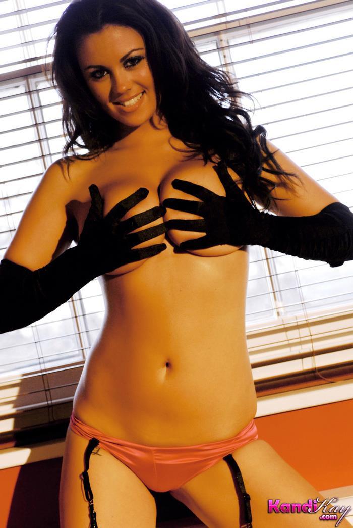 Kandi Kay in lingerie