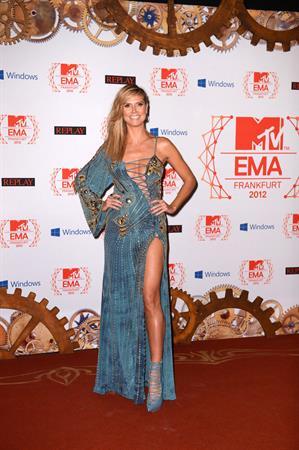 Heidi Klum MTV EMA's 2012 City Hall in Frankfurt on November 10, 2012