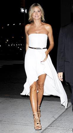 Heidi Klum - At her hotel in New York Sept 5, 2012