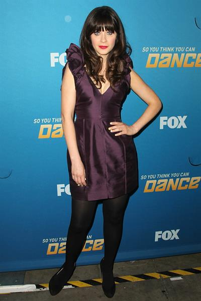 Zooey Deschanel - So You Think You Can Dance 200th Episode Celebration in Los Angeles on June 25, 2012