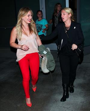 Hilary Duff – Pink concert at the Staples Center 10/12/13