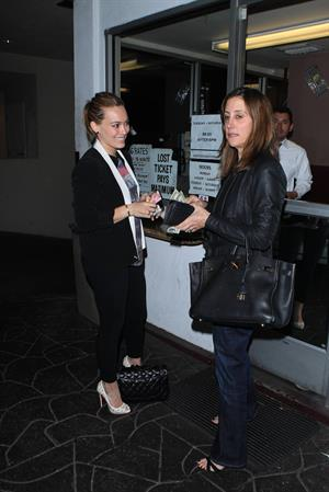 Hilary Duff Goes to dinner with a companion at E. Baldi Restaurant in Beverly Hills (May 8, 2013)