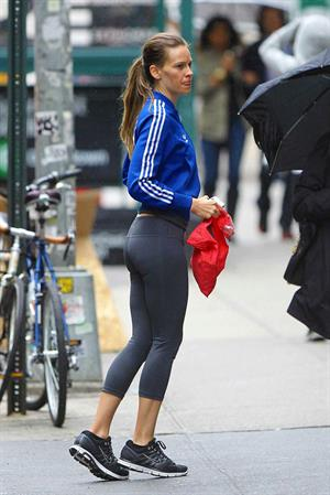 Hilary Swank - Leaving a gym at NYC June 5 2012