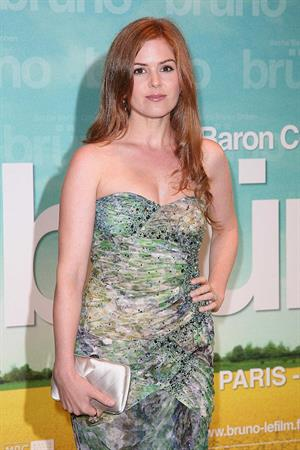 Isla Fisher attending the premiere of Bruno at Publicis Champs Elysees on June 15, 2009 in Paris, France