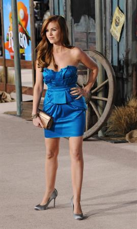 Isla Fisher Rango Los Angeles premiere on February 14, 2011