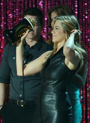 Jennifer Aniston at 2012 MTV Movie Awards, show, Los Angeles, June 3, 2012