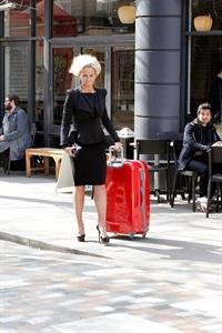 Jennifer Ellison walking through Covent Garden on March 21, 2012